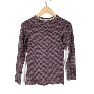 Smartwool Top Shirt Chevron Merino Wool Medium